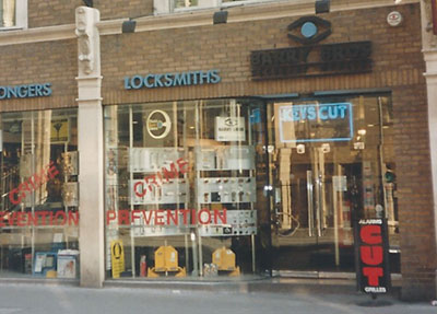 1990s Barry Bros Security Shop Front